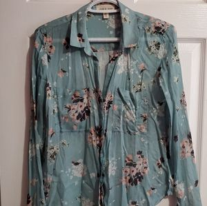 Anthropologie Cloth and Stone Floral Shirt